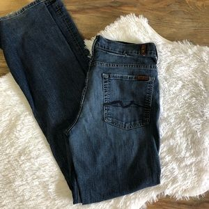 7 for all Mankind Highwaist bootcut jeans.